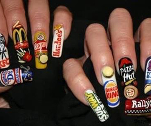 nails, food, and subway image
