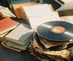 book, music, and vintage image