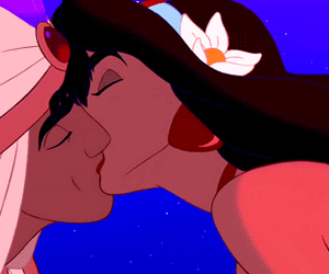 disney, aladdin, and kiss image