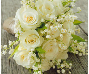 bouquet, flowers, and lily of the valley image