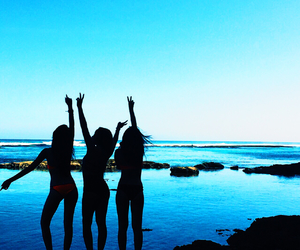 summer, blue, and beach image