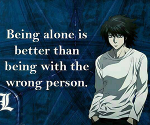 L, anime, and quotes image