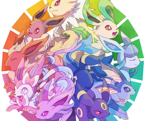 pokemon, anime, and eeveelutions image