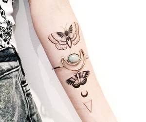 bee, butterfly, and girl image