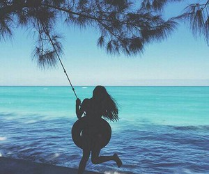 summer, girl, and beach image