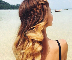 beach, hairstyle, and beautiful image