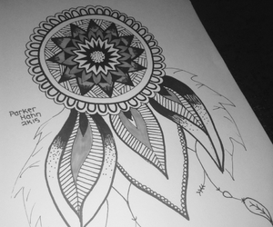 drawings, dream catcher, and it's okay image