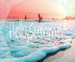 summer, beach, and hello image