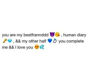 love, bestfriend, and emoji image