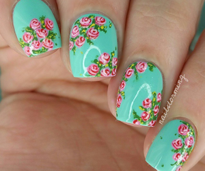 nails, roses, and tutorial image