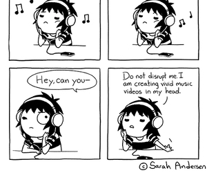 music, sarah andersen, and funny image