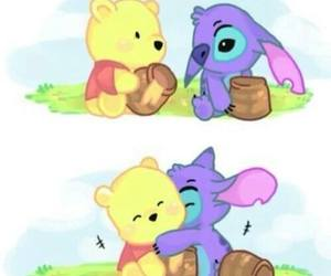 stitch, disney, and hug image