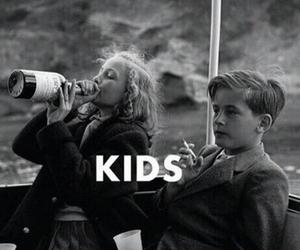 kids, cigarette, and smoke image