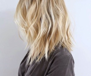 hair, blonde, and short hair image