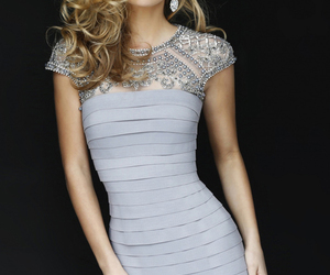 dress, dresses, and silver dress image