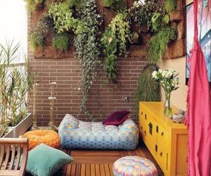 balcony, decoration, and plants image