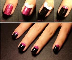 nails, black, and diy image