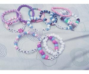 blue, bracelets, and faded image