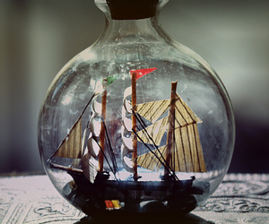 bottle and ship image