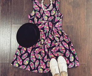 dress, fashion, and hat image