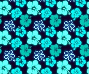 blue, design, and floral image