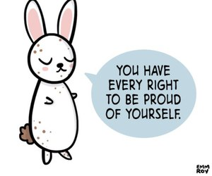 body positive, bunny, and motivation image