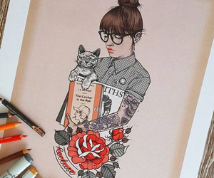 girl, draw, and rik lee image