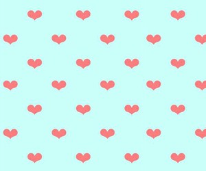 blue, hearts, and pink image