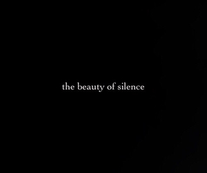 beauty, black, and silence image