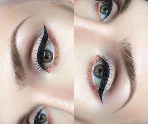 eyebrows, eyes, and make up image