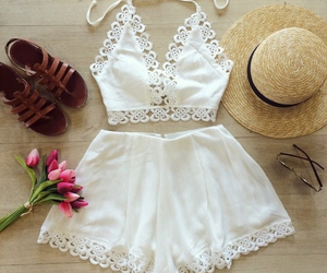 summer, hat, and white image