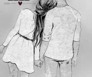 drawing, Relationship, and sweet image