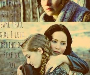 catching fire, prim, and katniss everdeen image