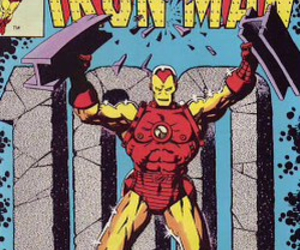 comic, hero, and ironman image