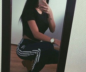 adidas, girl, and iphone image