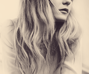 Kirsten Dunst, hair, and black and white image