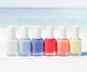 essie, nails, and beach image