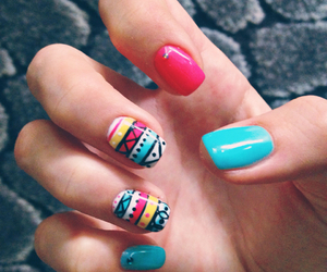 aztec, manicure, and nails image