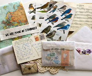 letters, art, and birds image