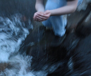 grunge, pale, and water image