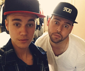 justin bieber, scooter braun, and Shots image