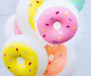 donuts, balloons, and pink image