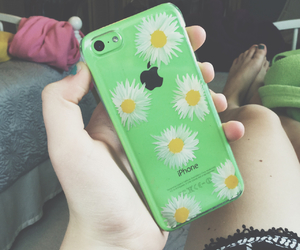 case, flowers, and green image