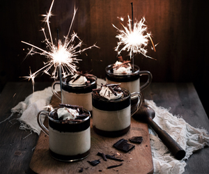 chocolate, panna cotta, and dessert image