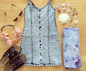 jeans, dress, and sandals image