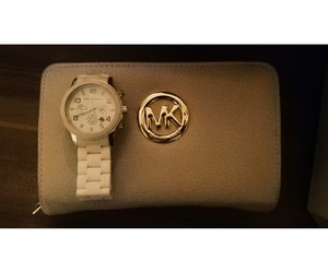 bag, clock, and micheal kors image