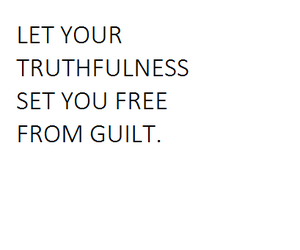 free, guilt, and honesty image