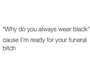 bitch, black, and clothes image