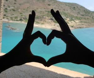 amour, beach, and coeur image