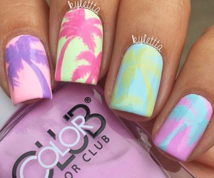nails, colorful, and girly image